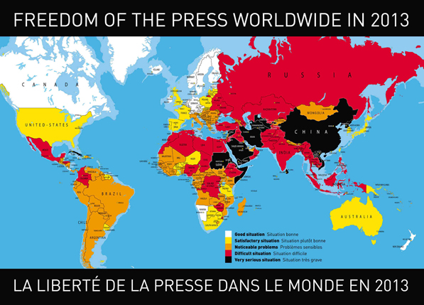 Freedom of Press Map